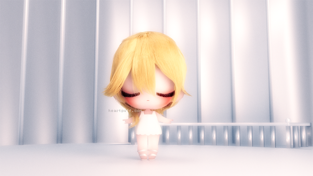 Namine 3D Chibi Front by SooloKim