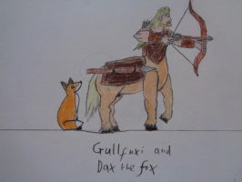 Gullfuxi and Dax the Fox by woodywoodwood
