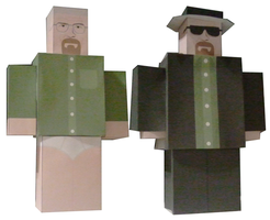 Walter White / Heisenberg Paper craft by optimaxion