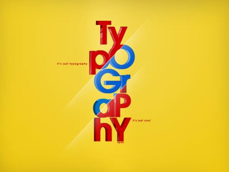 Typography It's just cool by SpiderIV