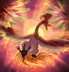 Ho-oh - Lord of the Sky - by EvilQueenie