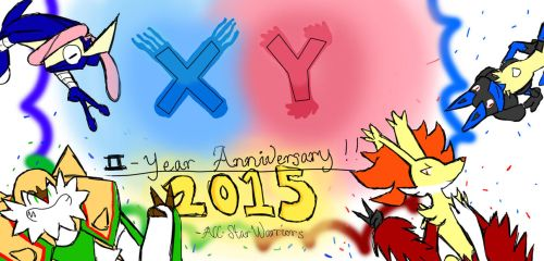 XY 2 Anniversary by All-StarWarriors