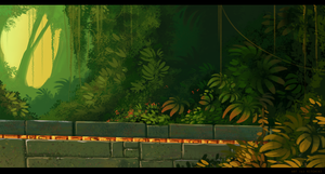 Forest Ruins-Study by Kitchiki