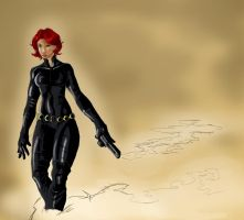 Black widow by quetzalcoatlehecatl1