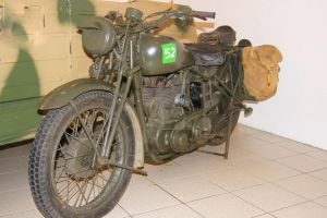 Wartime Motorcycle by MarmaladePrints