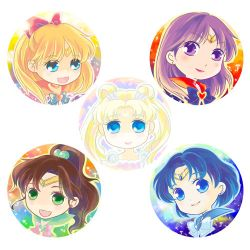 Sailor Moon Ornaments Coloured by CRINS