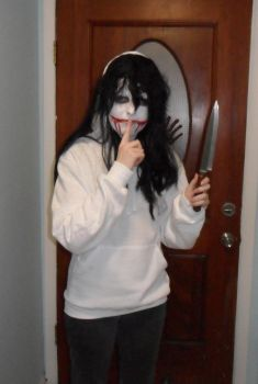I'm Jeff The Killer for Halloween by WOLFPREDATORQUEEN1