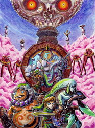 Majoras Mask Full Moon by Felolira