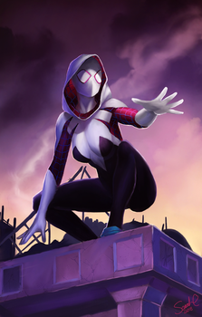 Spider-Gwen by Forty-Fathoms