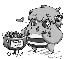 Sketch DaiLY 21 : Monster Candy Jackpot by Christina-LY
