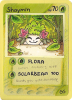 Shaymin card by griffsnuff