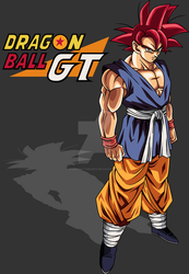 Dragon Ball GT Adult Goku SsjG (My Palette) by Anorkius-TheNERX