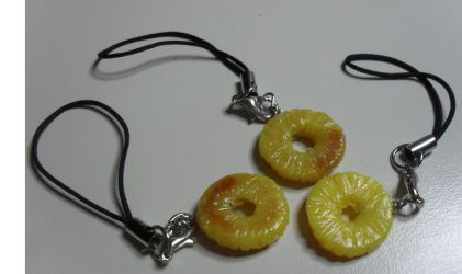 Sliced Grilled Pineapple Charm by utenafangirl
