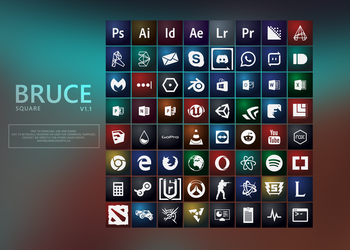 BRUCE icon pack v1.0 by Ecstrap