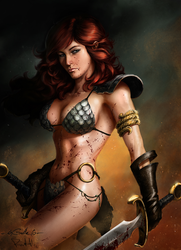 Spiderguile's Red Sonja Coloured by portohle