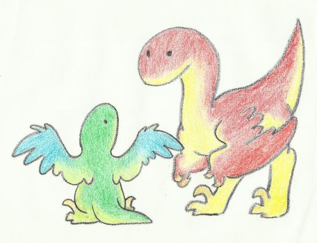 Raptors - Crayon by Annibal