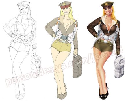 Pinup - WWII bomber pilot by jocachi