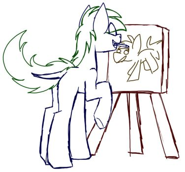 A Sketch Of Sketch Sketching Sketch I Guess by SpaazleDazzle