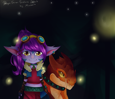 Dragon Trainer Tristana! Fanart by Mimyoi