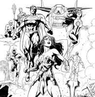 JLA inks! by aethibert
