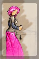Ginger in Pink Pants by fallout161
