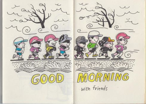 Good morning with friends by min6939