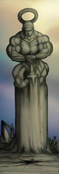 Giant statue of the Holy Battle Virgin Mary by Ritualist