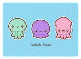 Tentacle Friends by yumcha