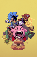 Sonic-mario-kirby by redeve
