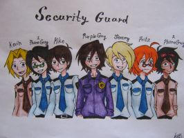 FNAF Security Guard by Pole-bear by KateWL