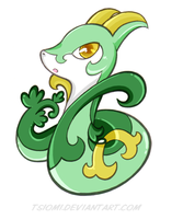 Chibi Serperior by Tsiomi