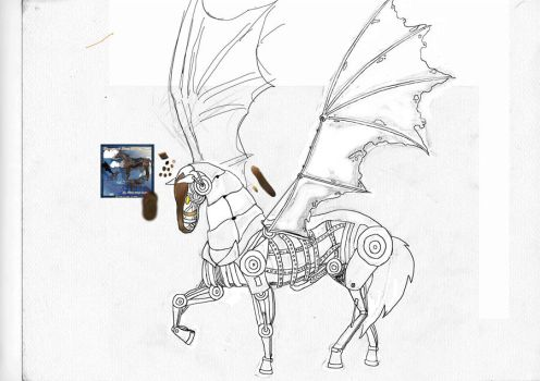 Horse steampunk by delphine232