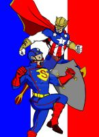 Captain Super VS American Man by Chezpizza