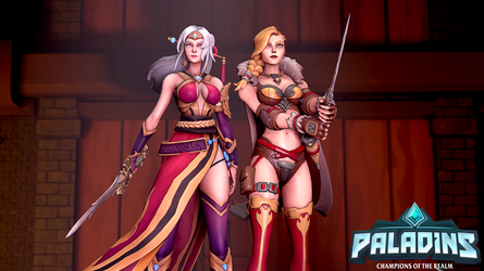 Paladins - Lian And Tyra by Deadpoolbutt