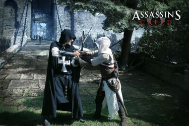 Assassins Creed - Assassin outside the walls by KejaBlank