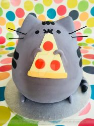 Pizza Cat Cake by ginas-cakes
