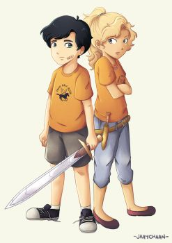 Young Percabeth by jaaychaan