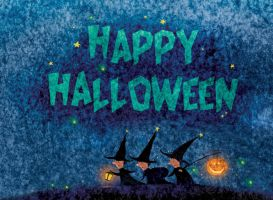 Halloween eCard and Wallpaper by vleta