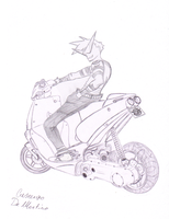 Kamina the Scooter Rider!!! by CrescTheBest
