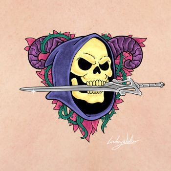 Skeletor Tattoo by puggdogg