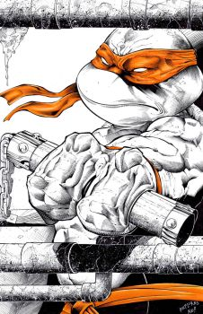 Michaelangelo commission inks and colors by TonyKordos