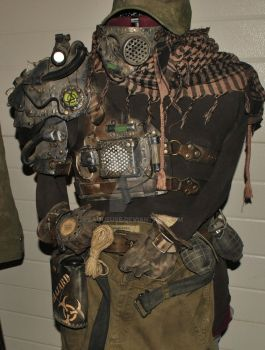 wasteland cyborg leather outfit by Lagueuse