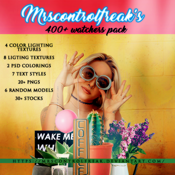 MRSCONTROLFREAK 400+ Watchers pack by mrsControlFreak