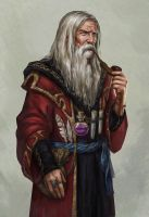 Merlin the court wizard by Lucy-Lisett