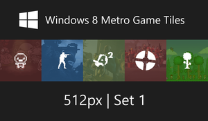 Windows 8 Metro Game Tiles by Erratic-Fox
