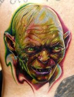 lord of the rings golum by tat2istcecil