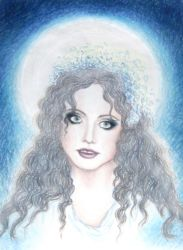 Sarah as the Moon by StarlitGardens