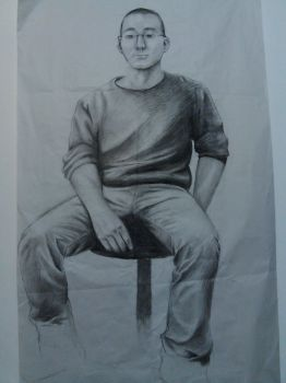 Charcoal Lifesized Drawing by SaBeR2T