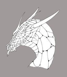 Dragon head Lineart by DivianaAjatar