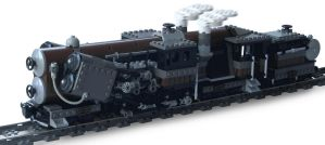 'Titan-Class' Double-Boiler Locomotive by RRaillery